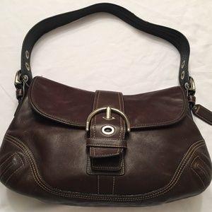 Coach Hampton Soho Leather Buckle Flap Handbag